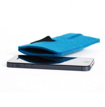 BABUSCHKA Handytasche für Iphone 5 und größere Smartphones, reiner Wollfilz – Bild 1
