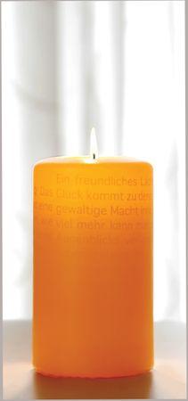 Wortlichtkerze Sinntexte LEUCHTENDE GEDANKEN - ZUR FREUDE Bulla Design – Bild 1