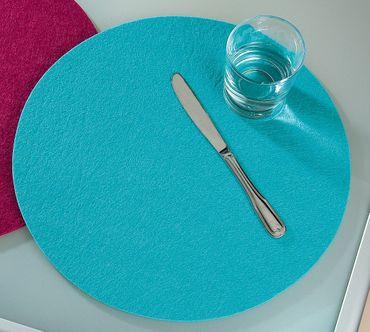 Platzsets Tischsets rund Ø 35 cm Filz Untersetzer 4er Set Gilde – Bild 21