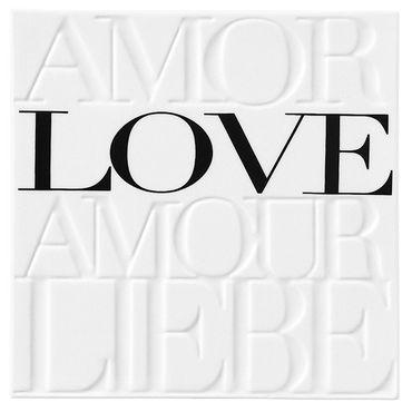 Wandbild Bild Porzellanbild AMOR LOVE AMOUR LIEBE Räder