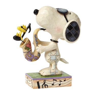 Jim Shore MY BEST FRIEND SNOOPY mit Saxophon THE BLUES BEAGLE Peanuts Skulptur Figur Comicfigur Enesco – Bild 1