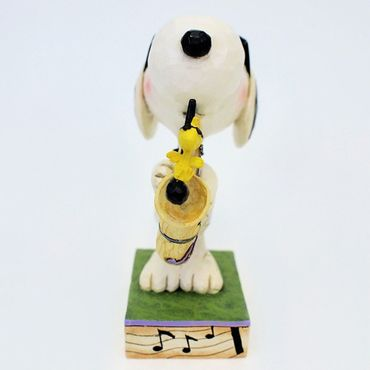 Jim Shore MY BEST FRIEND SNOOPY mit Saxophon THE BLUES BEAGLE Peanuts Skulptur Figur Comicfigur Enesco – Bild 2