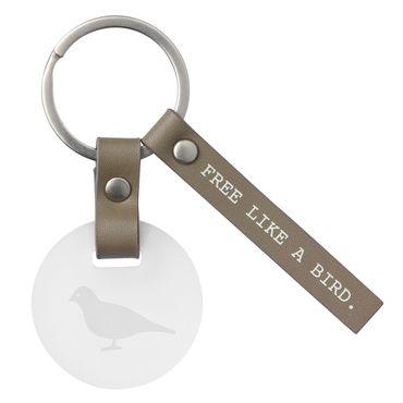 Schlüsselanhänger Schlüsselgläser Vogel FREE LIKE A BIRD Räder