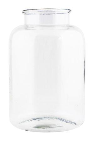 Topf Vase Glas Blumenvase Glasvase Tischvase Bodenvase TRAD house doctor