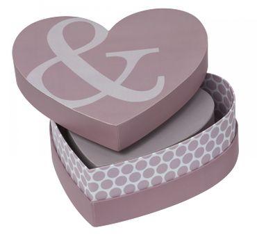 Aufbewahrungsbox Geschenkverpackung Dekobox Herzbox 3er Set IT`S THE LITTLE THINGS... Räder – Bild 1