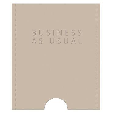 Lieblinge Kartenetui Visitenkartenetui Leder sand BUSINESS AS USUAL Räder – Bild 1