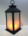 Deko Laterne Metall mit LED Flammen Effekt Licht