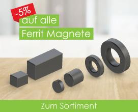 -5% auf alle Ferrit Magnete