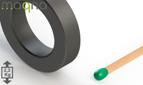 Ferrit Ringmagnet, 40x9 mm mit 25 mm Bohrung, Grade Y30 - Produktfoto