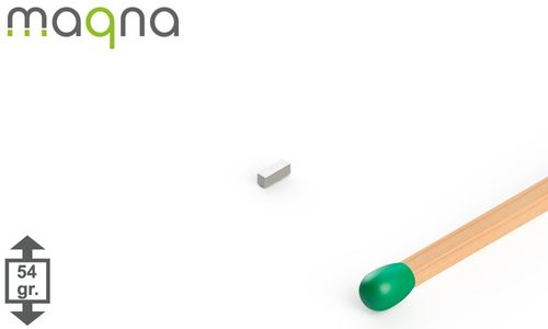 Neodym Quadermagnet 3x1x1mm, vernickelt, Grade N45 - Produktfoto
