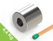 Ringmagnet 12x12mm mit 5mm Bohrung, vernickelt, Grade N42