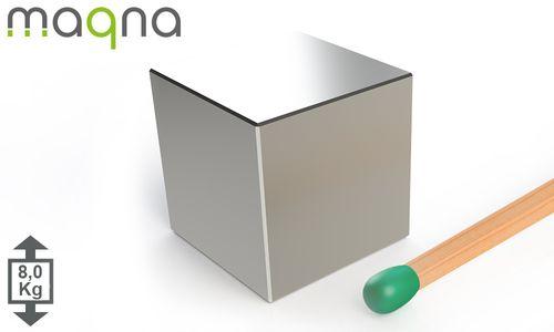 Neodym Würfelmagnet, 15x15x15mm, vernickelt, Grade N42 - Produktfoto