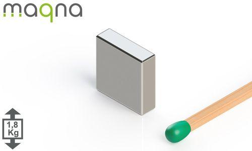 Neodym Quadermagnet, 10x10x3mm, vernickelt, Grade N45 - Produktfoto