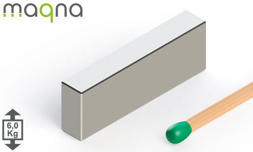 Neodym Quadermagnet, 30x10x5mm, vernickelt, Grade N45 - Produktfoto