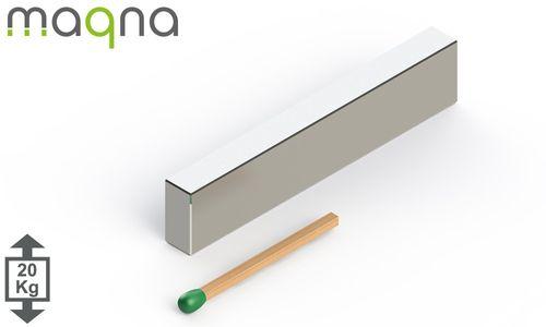Neodym Quadermagnet, 50x10x5mm, vernickelt, Grade N45 - Produktfoto