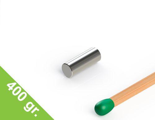 Neodym Stabmagnet, 3x8 mm, vernickelt, Grade N48 - Produktfoto