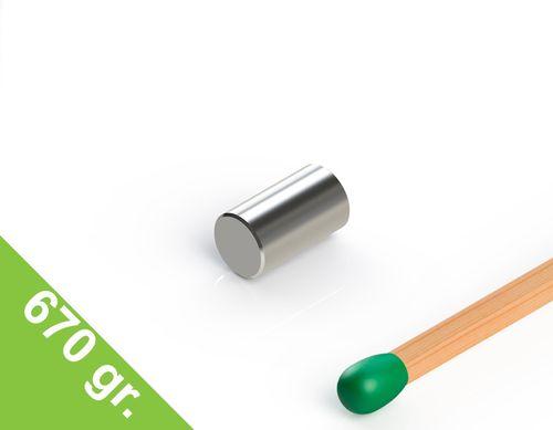 Neodym Stabmagnet, 4x7 mm, vernickelt, Grade N45 - Produktfoto