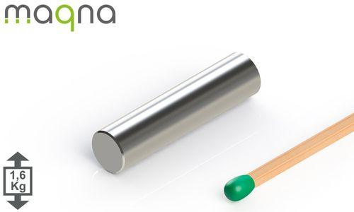 Neodym Stabmagnet, 6x25 mm, vernickelt, Grade N42 - Produktfoto
