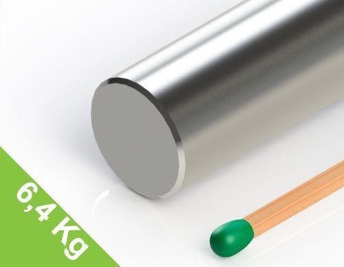 Neodym Stabmagnet, 12x60mm, vernickelt, Grade N38 - Produktfoto