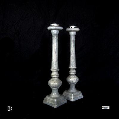 Kerzenständer                      Bauernsilber perlmutt – Bild 2