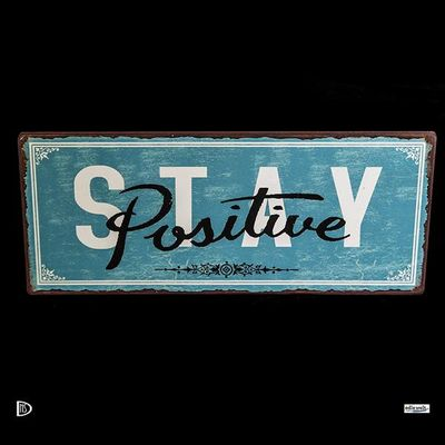 "Ib Laursen Metallschild                   ""Stay Positive"" – Bild 2"