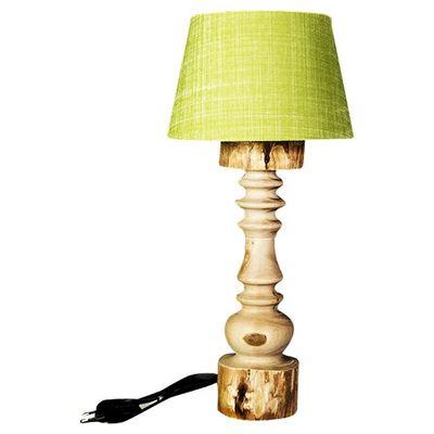 Lampenschirm                                                rund hellgrün