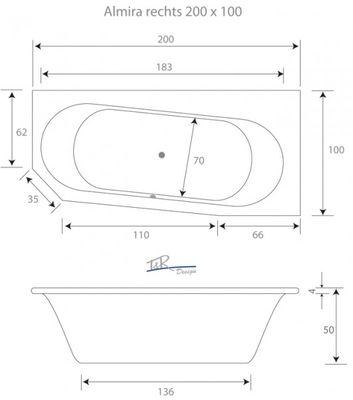 Raumsparwanne Badewanne Almira R T & R Design in 5 Größen erhältlich – Bild 6