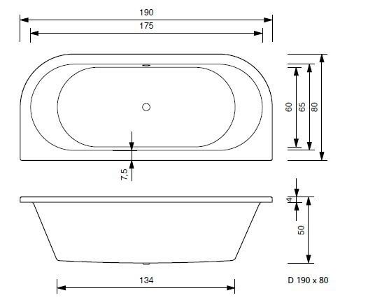 Turbo Badewanne Petra D in 5 versch. Größen T&R Design | badewanne24.de ZW51