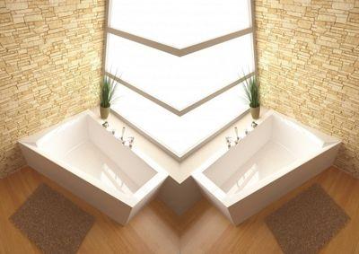 Raumspar Badewanne Galia II 175 x 135 x 52 cm Rechts / Links inkl. Wannenträger – Bild 1