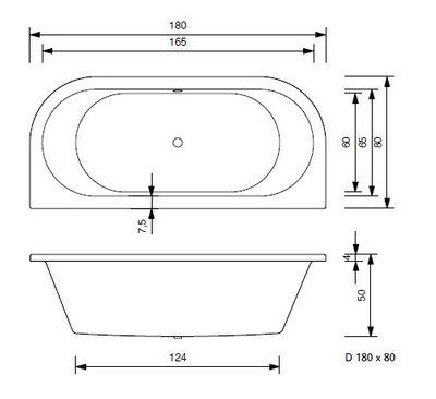 Badewanne Sun 170x80 / 180x80 VL / VR / V inkl. Schürze + Füße – Bild 10