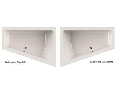 Raumsparwanne Badewanne 170 x 125 x 45 Clara Rechts / Links – Bild 1