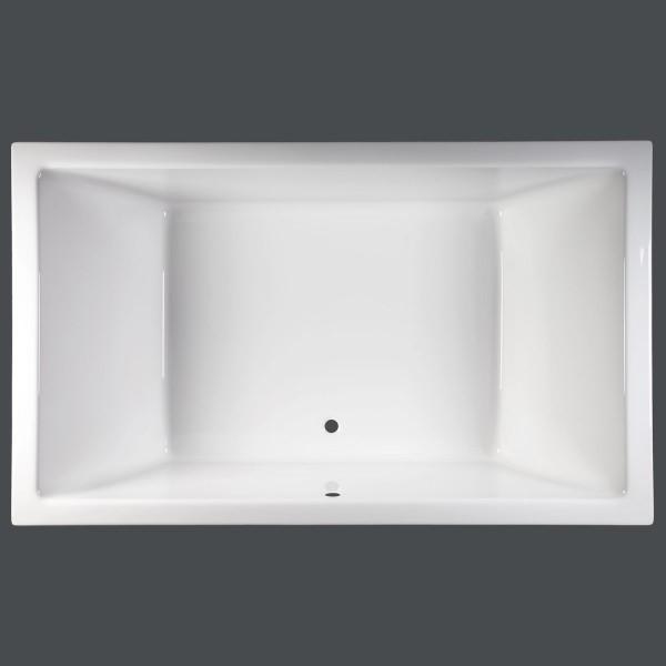 Komplettset Badewanne 190 x 120 x 50 Mona + Wannenträger + Viega Ablauf