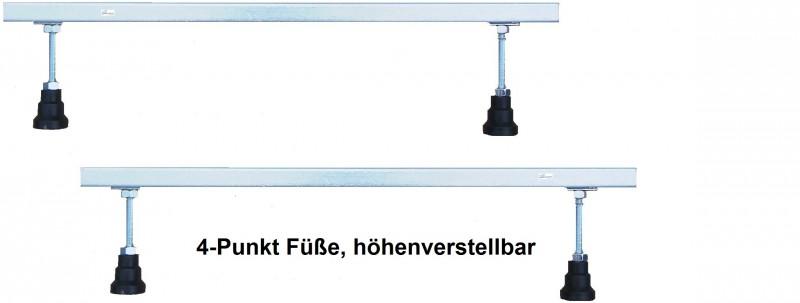Füße für Badewannen Duschwannen höhenverstellbar 4 Pkt. 6 Pkt. 8 Pkt.
