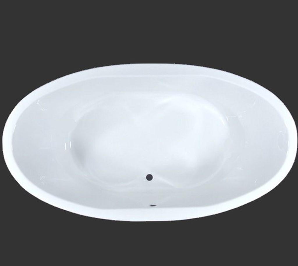 Badewanne Oval 190 x 100 x 50 cm Aura T&R Design