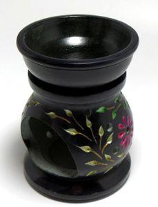 "Duftlampe - Aromalampe ""Flowers"" 2teilig schwarz - bunt – Bild 1"