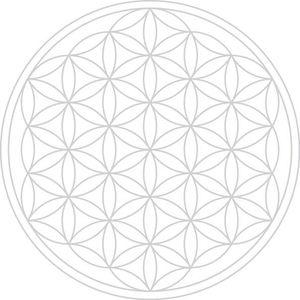 Einzelglas - Mythos Lasergravur - mit Blume des Lebens - spülmaschinenfest – Bild 2