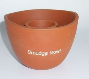 "Smudge Bowl ""Terracotta"" aus Ton"