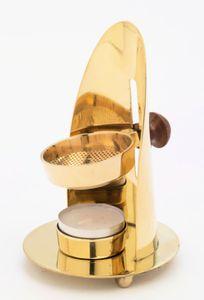 Weihrauchbrenner ca.12cm Messing glänzend - für Weihrauch und Kräuter