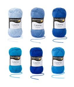Blau Mix Set - SMC Catania Originals - 100% Baumwolle 6x50g
