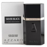 Azzaro Silver Black pour Homme Herren Herrenduft 50 ml AS After Shave Aftershave