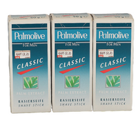 3 x 50 Gramm Palmolive for Men Rasierseife Shave Stick Palm Extract