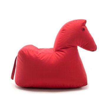 Authentics Sitting Bull Happy Zoo Lotte Pferd Sitzsack rot 100% Polyester beschichtet LxBxH 81x67x37cm 190402