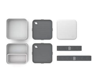 MB Square Coton - Die quadratische Bento-Box hellgrau 120013110