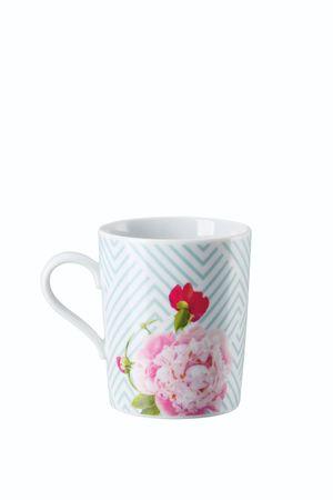 Arzberg Tric Vivid Bloom Celadon floral Becher mit Henkel 49700-640156-15505