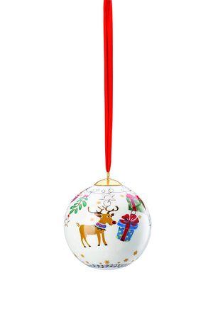 Hutschenreuther Sammelserie 2018 Fröhliche Weihnacht Porzellankugel gross 02472-727204-27938