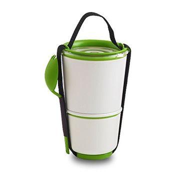 Black + Blum Lunch Pot - White / Lime BP001