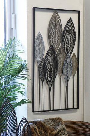 Casablanca Wanddeko Palmblätter champ/braun 53x95cm 74703