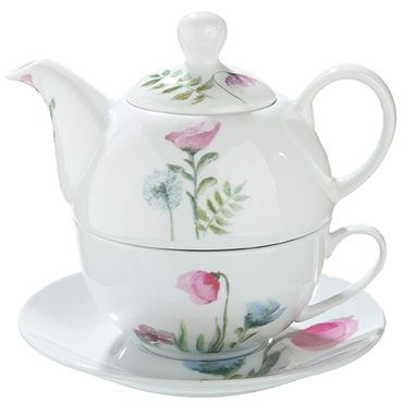 "Gilde Porzellan Tea for one ""Sweet Blossom"" 49604"