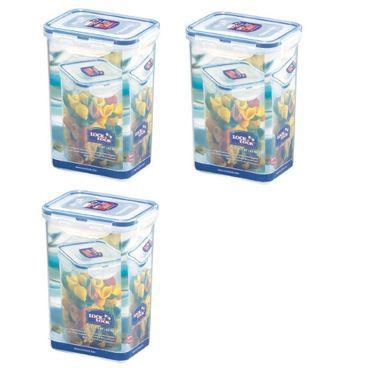 Lock & Lock HPL809 Nudel-/Lebensmittel-Vorratsdose, 1,3 l, 3 Stück