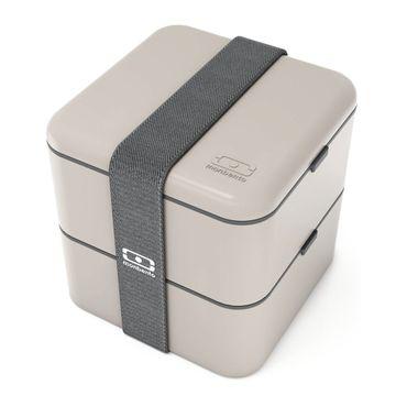 MB Square grau - Die quadratische Bento-Box